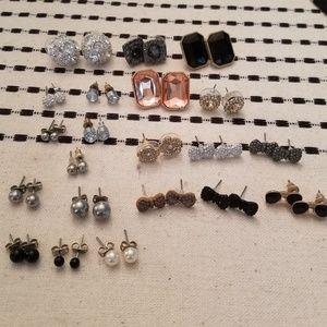 Stud Earring Bundle - 21 pairs!!!!!
